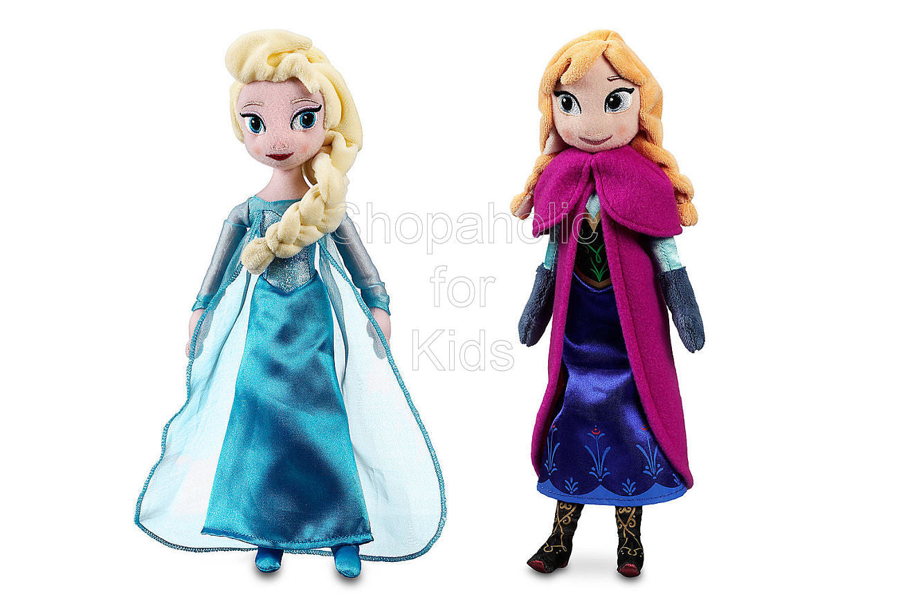 Elsa and Anna Plush Doll Set 12in - Frozen - Shopaholic for Kids