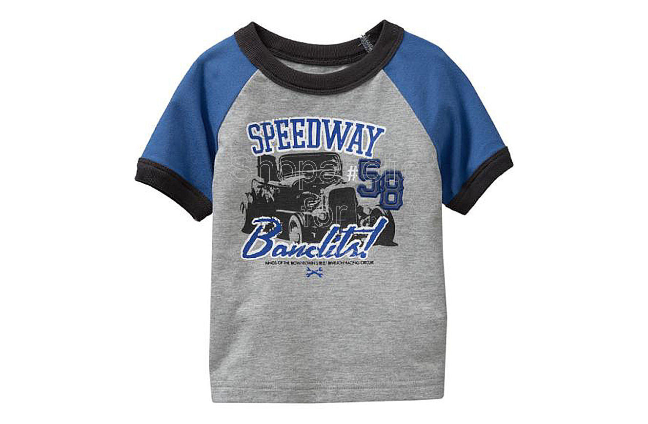 Old Navy Automotive Raglan Tees Heather Gray - Shopaholic for Kids