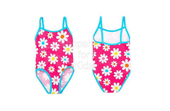Bluezoo Girl's Pink Daisy Printed Swimsuit - Shopaholic for Kids