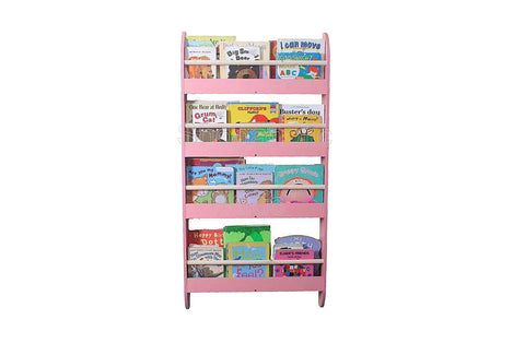 Wall Book Rack - Pink