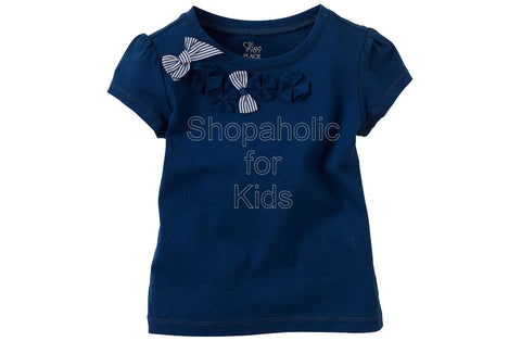 Children's Place Bow Embellished Top Color: Cruise