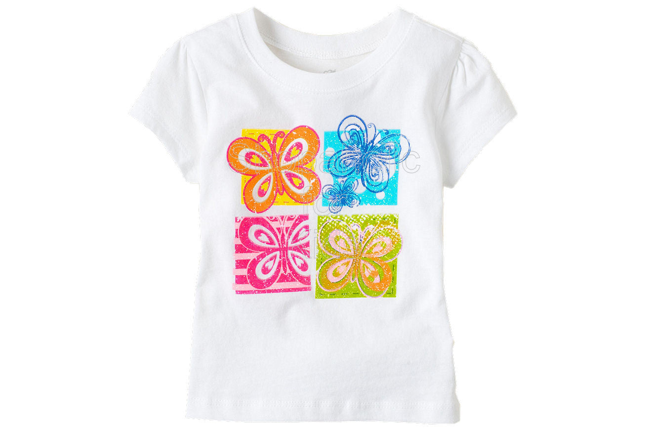 Children's Place Butterflies Graphic Top - Shopaholic for Kids