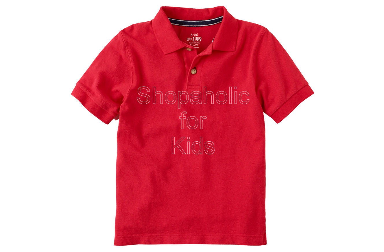 Children's Place Classic Polo Color: Cardinal - Shopaholic for Kids