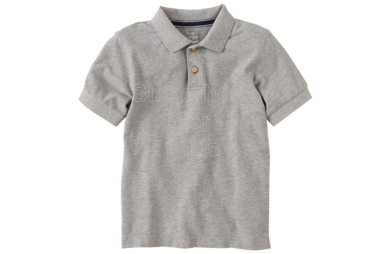 Children's Place Classic Polo - H/T Grey - Shopaholic for Kids