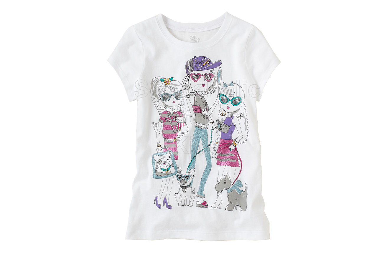 Children's Place  Cool Girls Graphic Tee - White - Shopaholic for Kids