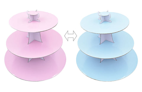 Delish Treats 3 Tier Reversible Cupcake Stand