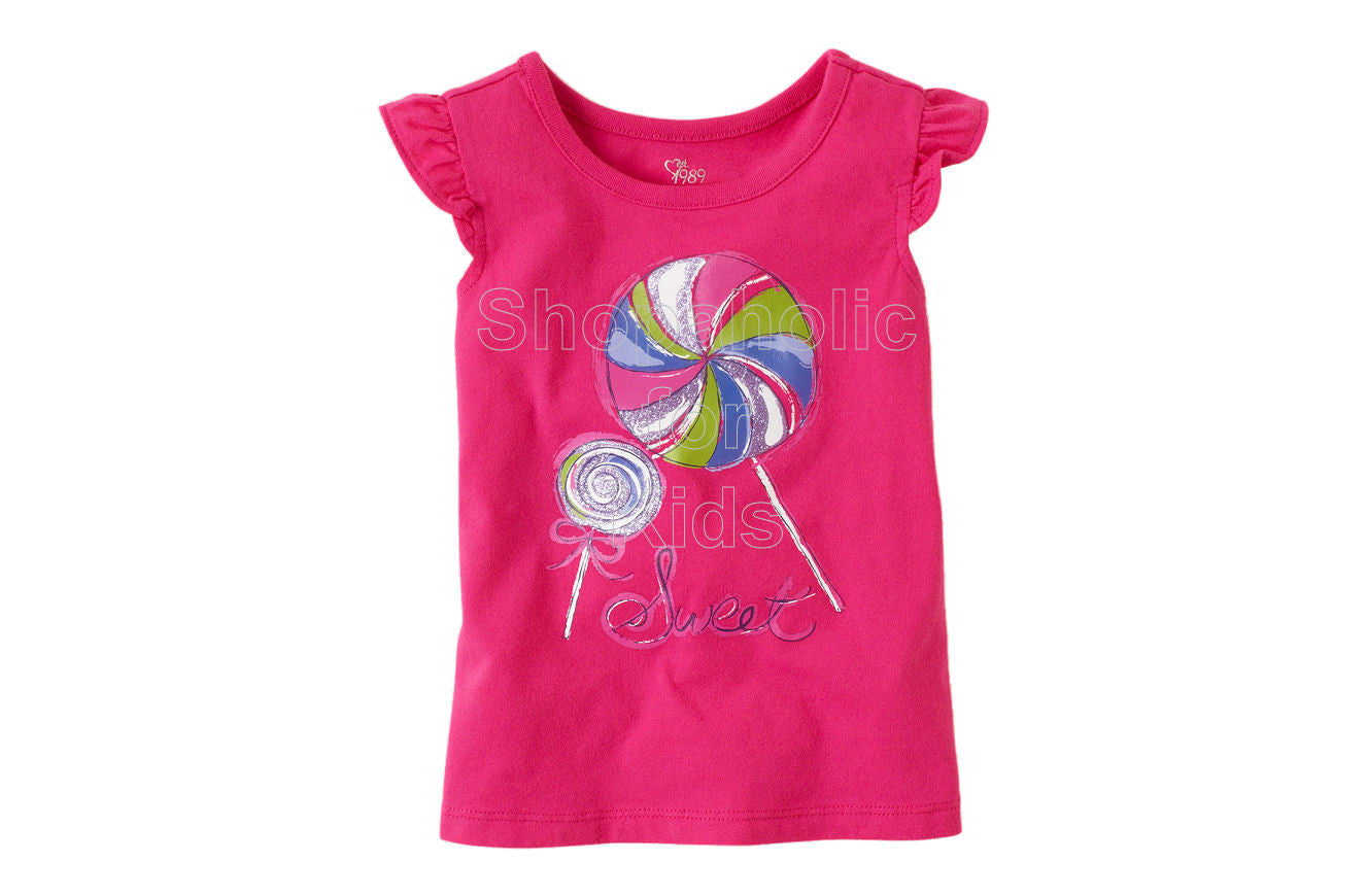 Children's Place Flutter Tee - Pink Fizz - Shopaholic for Kids
