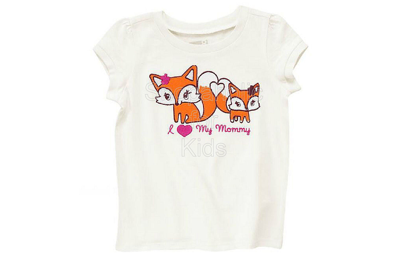 Crazy8 Fox Tee Ivory - Shopaholic for Kids