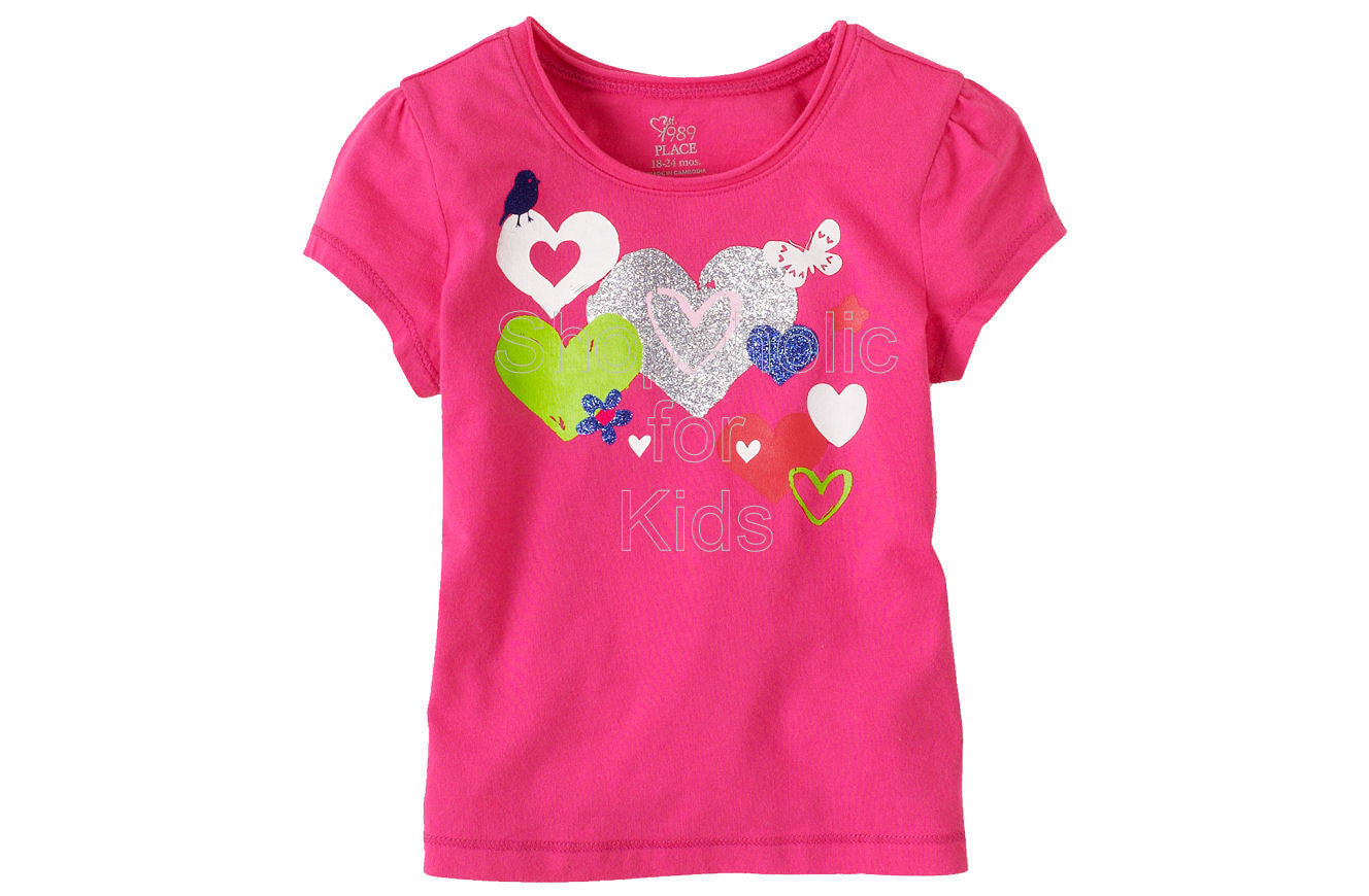 Children's Place Graphic Active Top - Pink Fizz