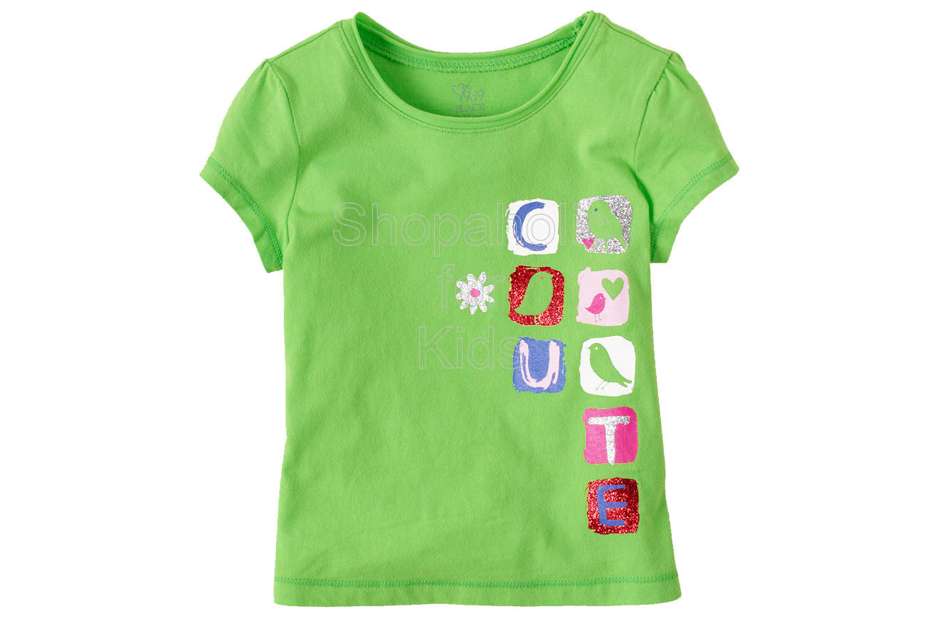 Children's Place Graphic Active Top - Vivid Green - Shopaholic for Kids