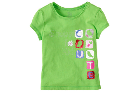Children's Place Graphic Active Top - Vivid Green