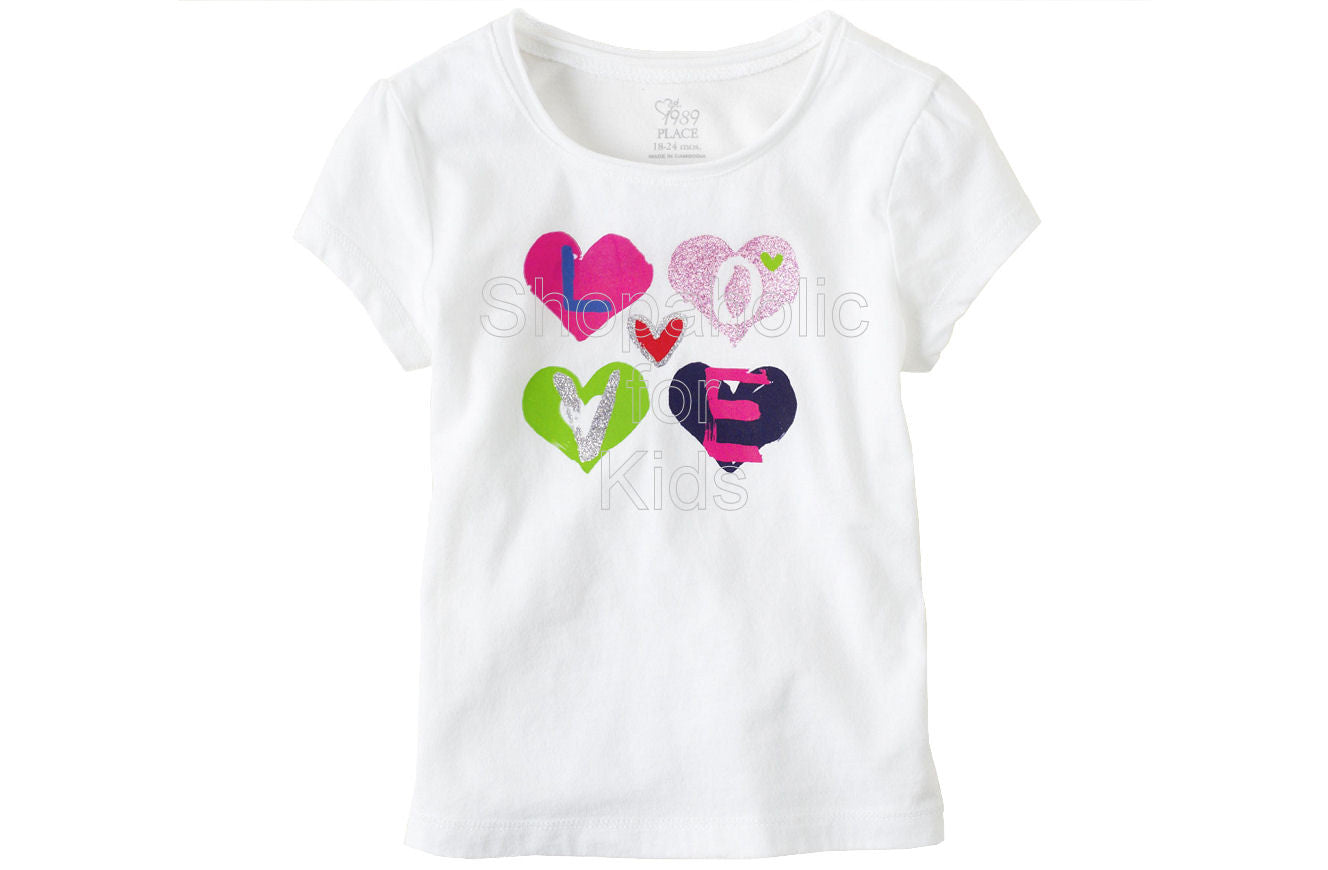 Children's Place Graphic Active Top - White - Shopaholic for Kids