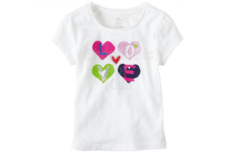 Children's Place Graphic Active Top - White