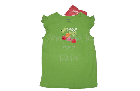 Gymboree Cherry Baby Green Sweet Top