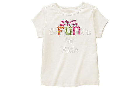 Gymboree All About Buttons Girls Just Want to have Fun Shirt