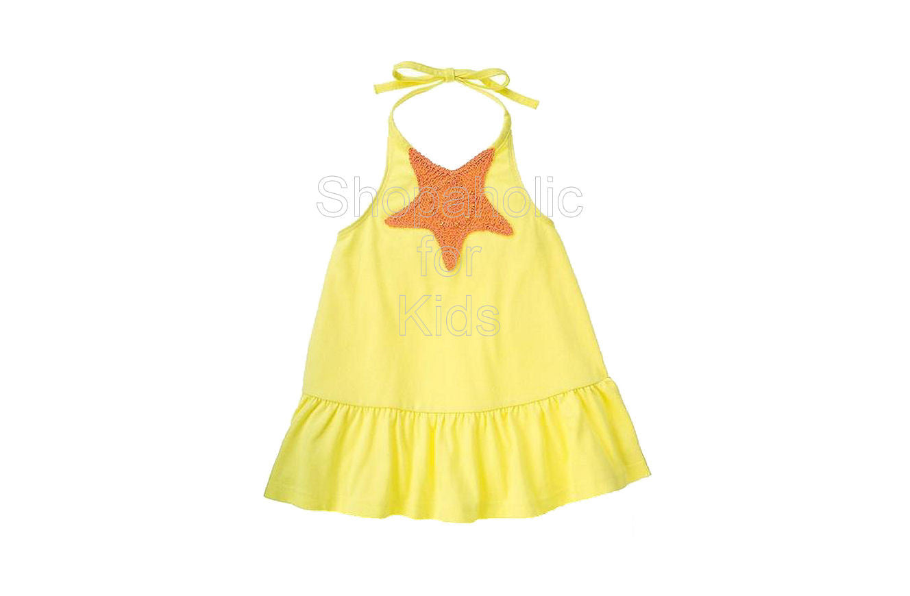 Gymboree Mermaid Magic Yellow Halter with Starfish