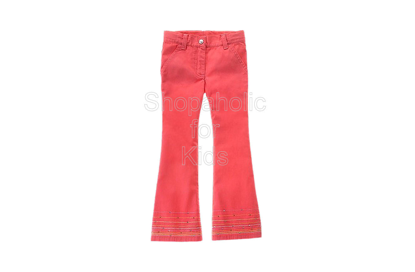 Gymboree Spring Rainbow Coral Rhinestone Pants - Shopaholic for Kids