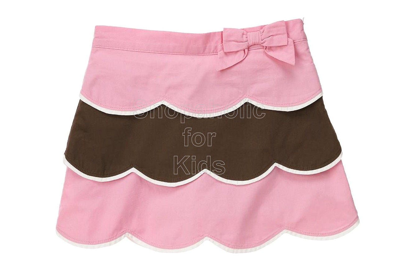 Gymboree Tea for Two Pink Brown Skirt/Shorts