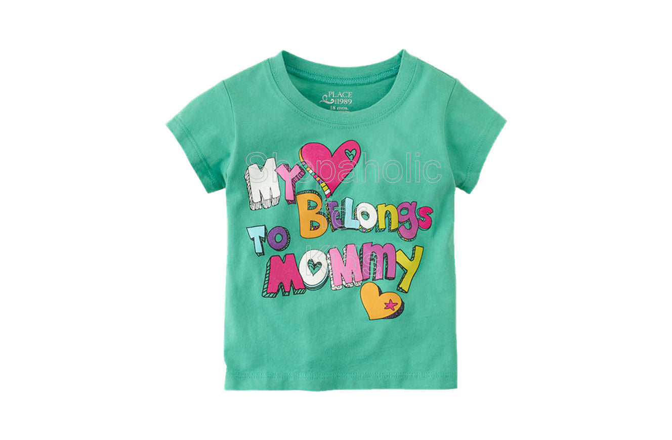 Children's Place My Heart Belongs to Mommy - Shopaholic for Kids