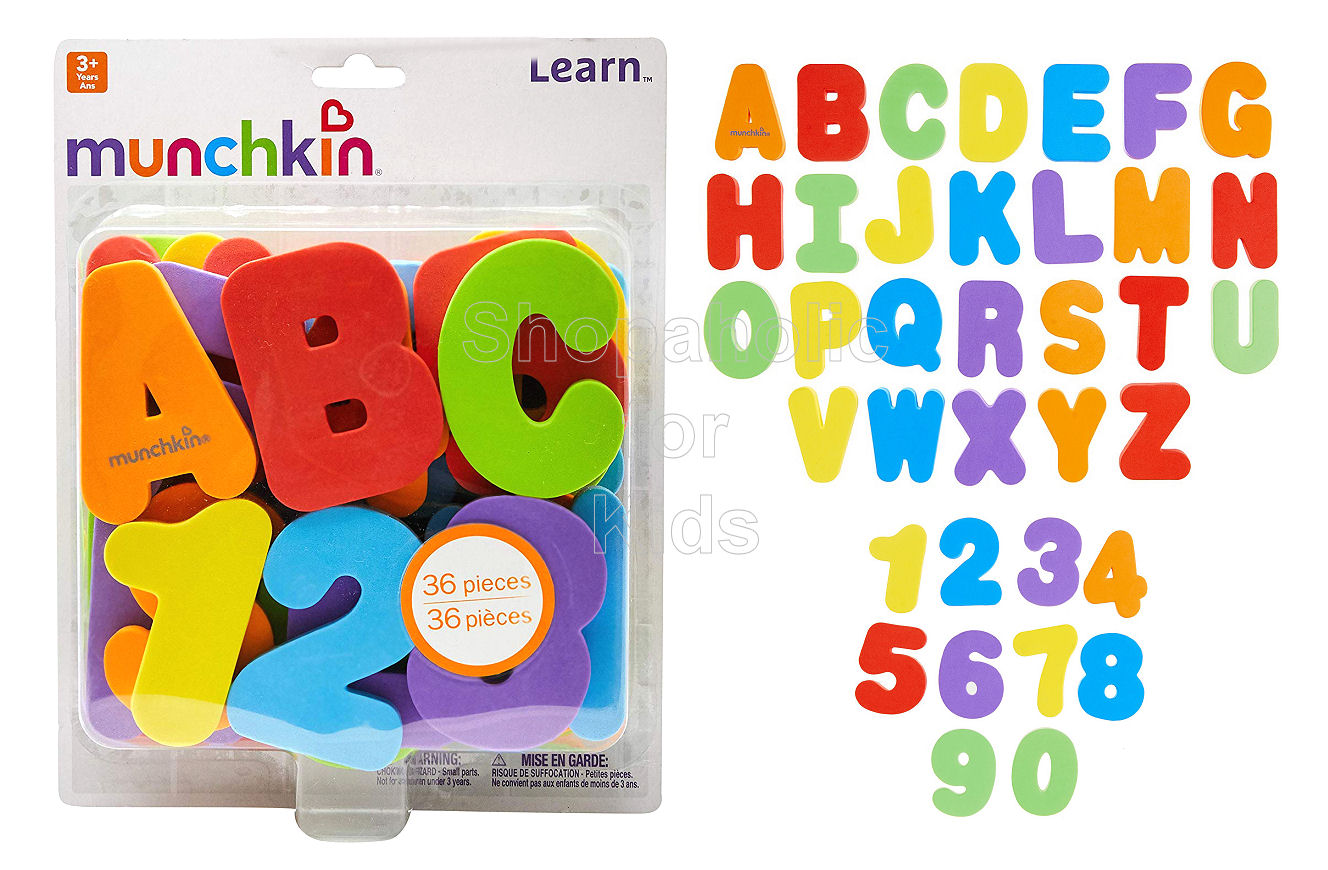 Munchkin Learn Bath Letters & Numbers, Primary