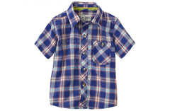 Children's Place  Plaid Shirt - Naval Blue