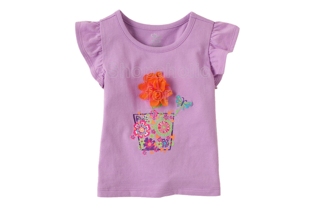 Children's Place Ruffle Sleeve Top - Lilac Mist - Shopaholic for Kids