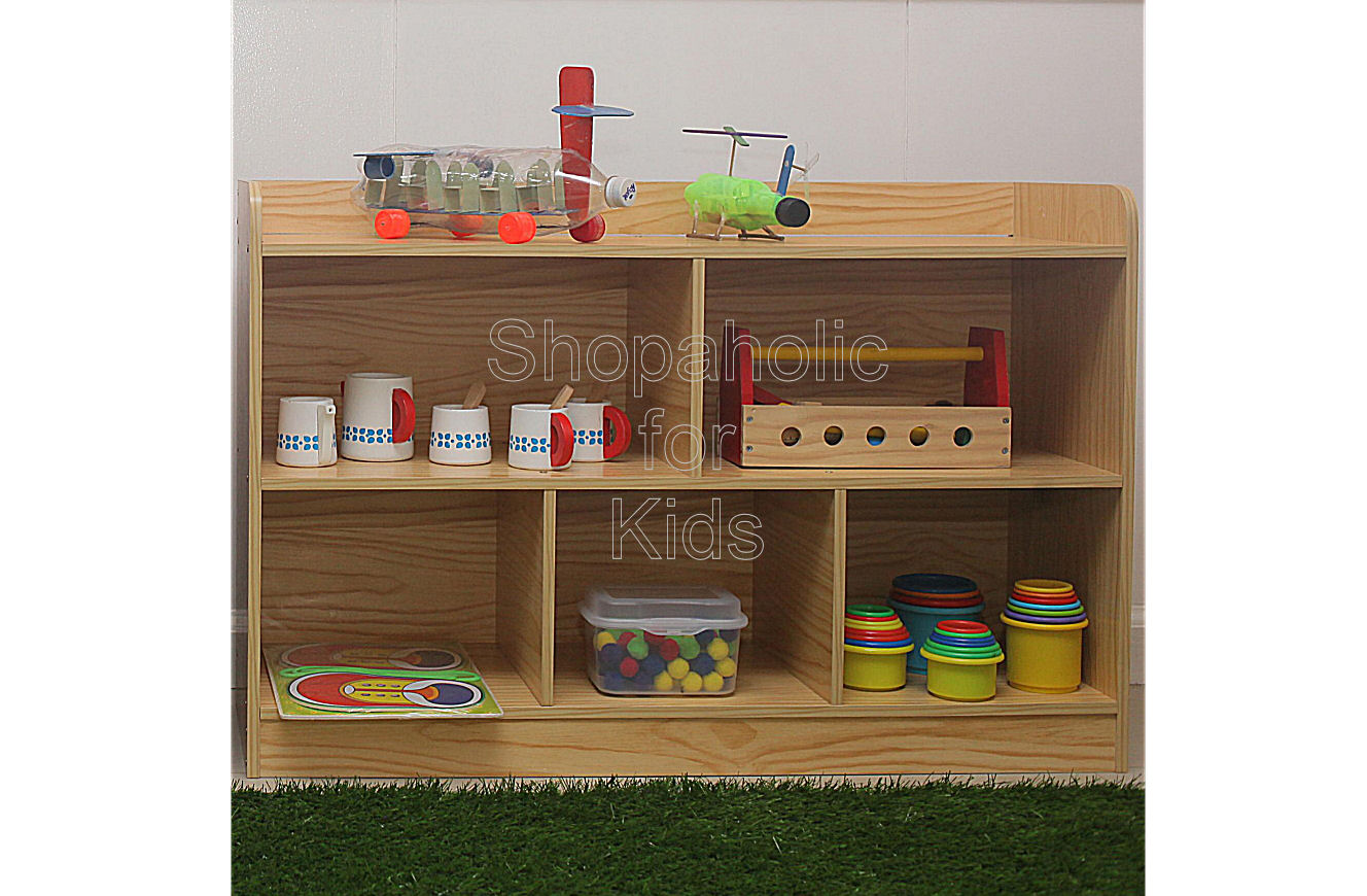 Shelf with Divider - Wood - Shopaholic for Kids