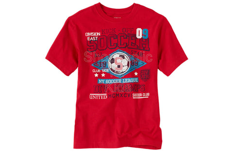 Children's Place Soccer Graphic Top - Hot Chili