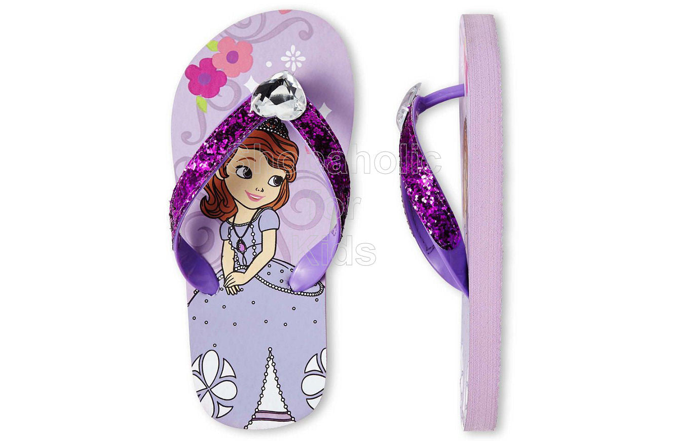 Sofia the First Purple Flip Flops - Shopaholic for Kids