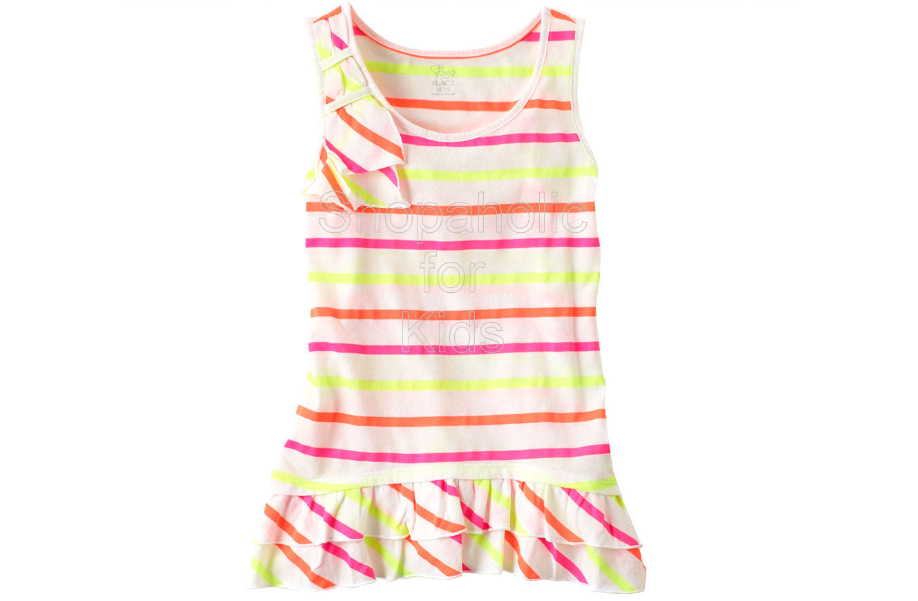 Children's Place Striped Ruffle White - Shopaholic for Kids