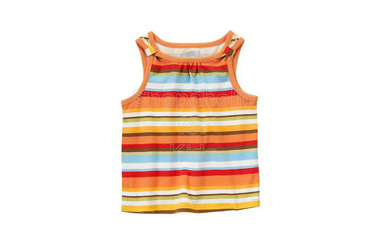 Crazy8 Stripe Tank Top Tropical Orange - Shopaholic for Kids