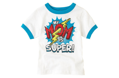 Children's Place Super Mom Graphic Tee - White