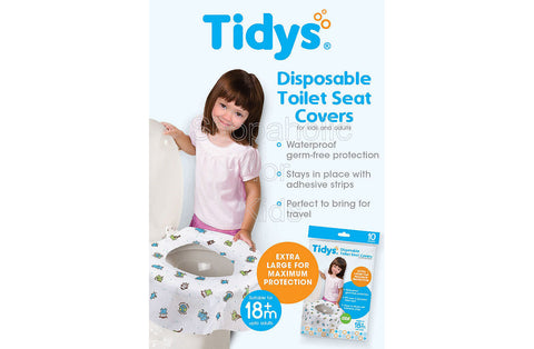 Tidys Disposable Toilet Seat Covers - Pack of 10
