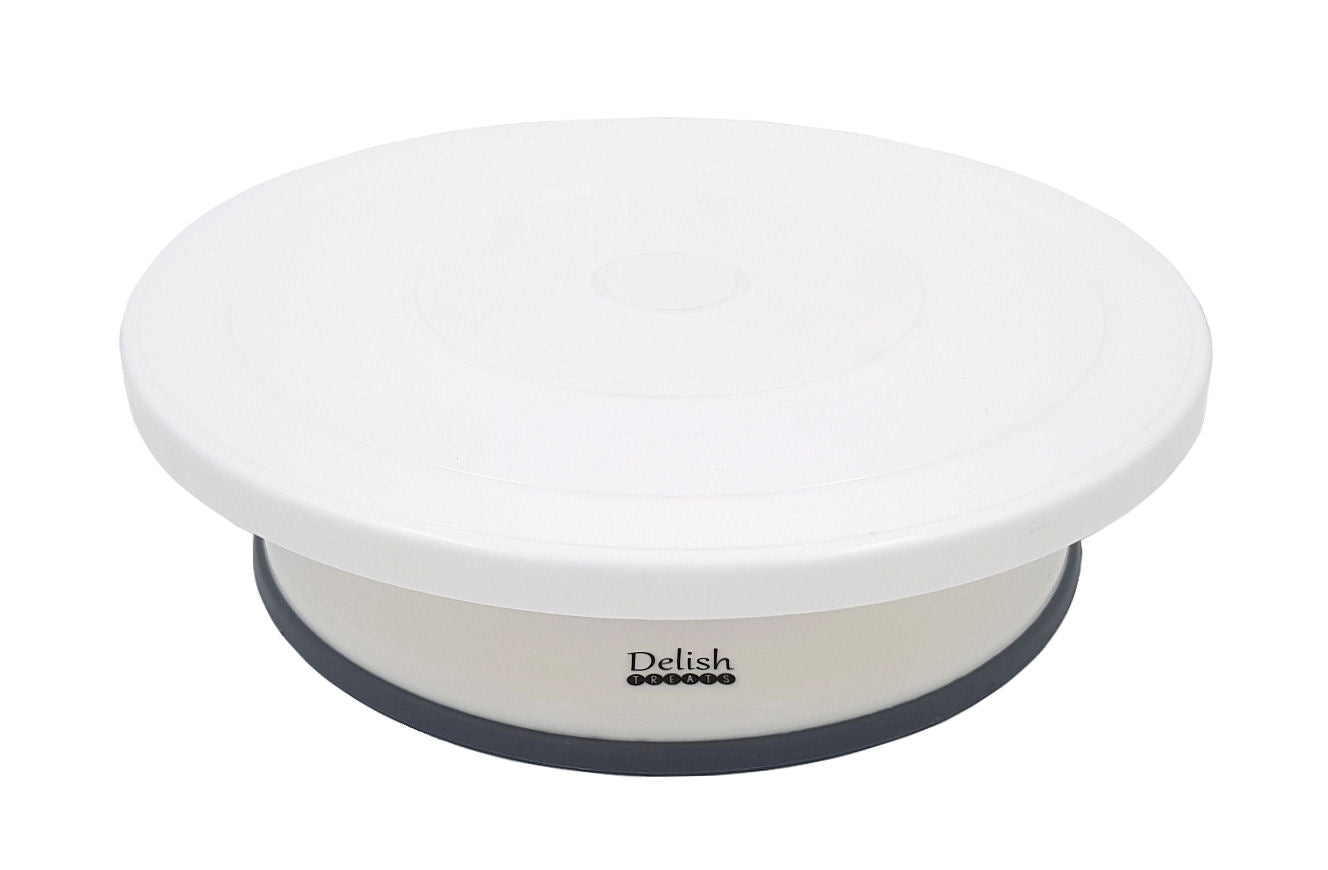 Delish Treats Cake Decorating Turntable with Non-Slip Bottom