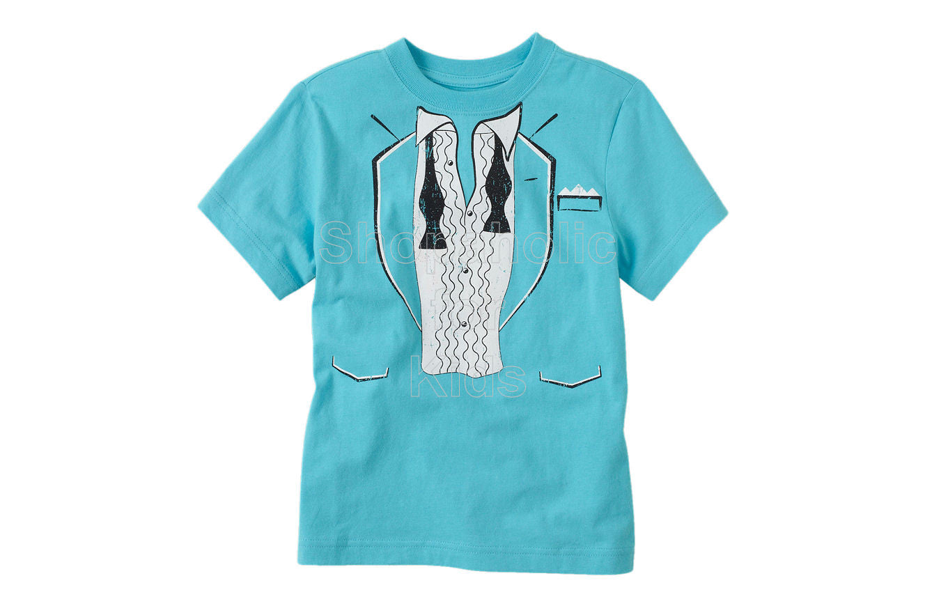 Children's Place Tux Graphic Tee - Blue Sea - Shopaholic for Kids