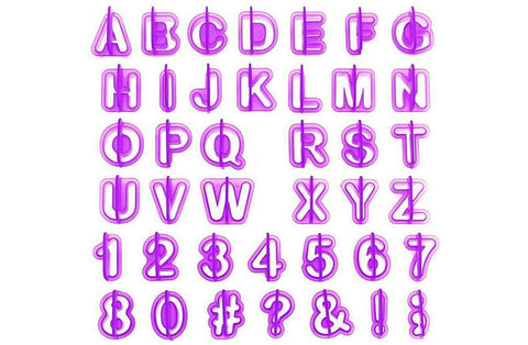 Delish Treats Cookie  Cutter - Letters & Numbers (40pc Set)