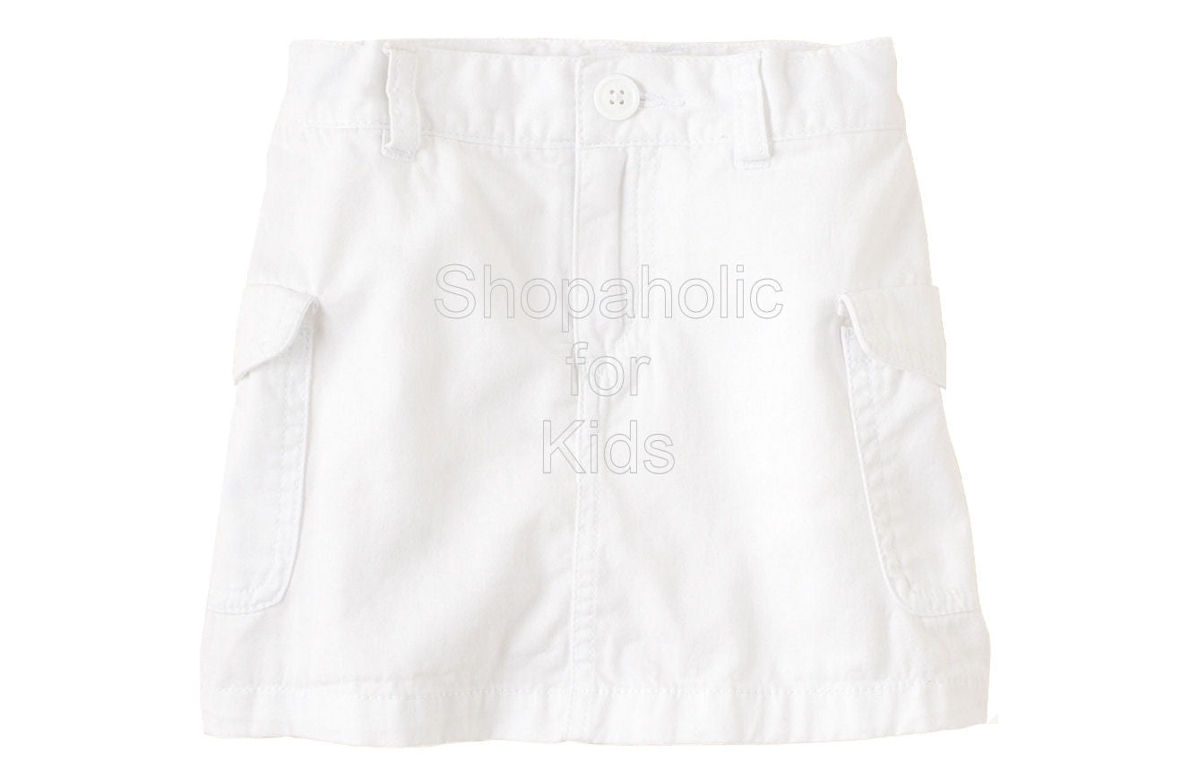Children's Place Utility Skort - White - Shopaholic for Kids