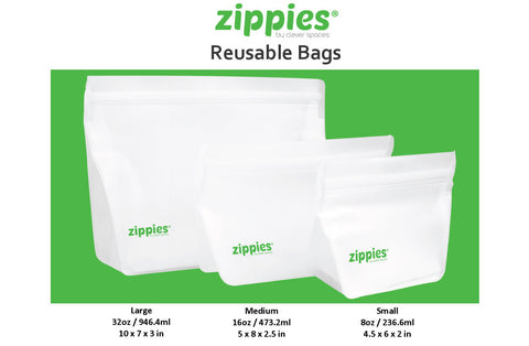 Zippies Reusable Bags, Pack of 3