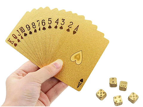 24k Gold Foil Poker Cards