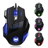 7200 DPI LED Optical USB Wired Gaming Mouse