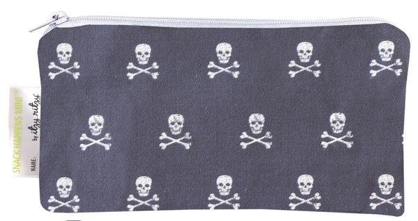 Itzy Ritzy Snack Happens Mini Snack Bag - Rebel Skulls