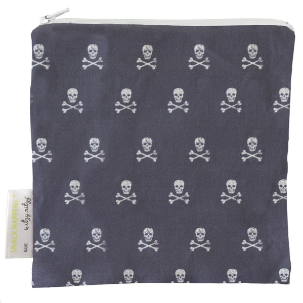 Itzy Ritzy Snack Happens Snack Bag - Rebel Skulls