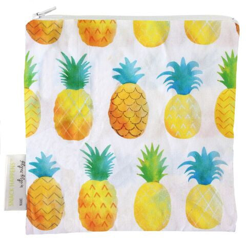 Itzy Ritzy Snack Happens Snack Bag  - Painterly Pineapple