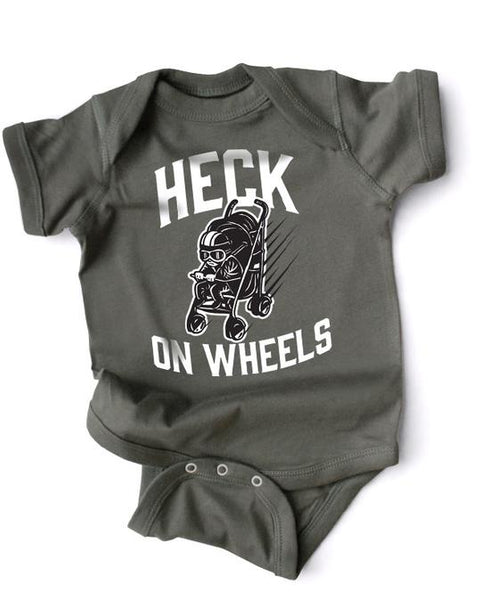 Wry Baby Snap Suit Onesie - Heck on Wheels / 6-12 Months