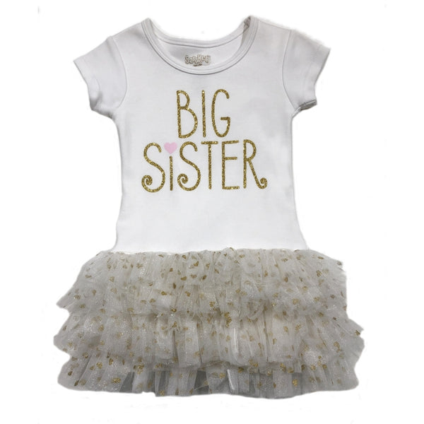 Sara Kety Big Sister Toddler Tutu Dress