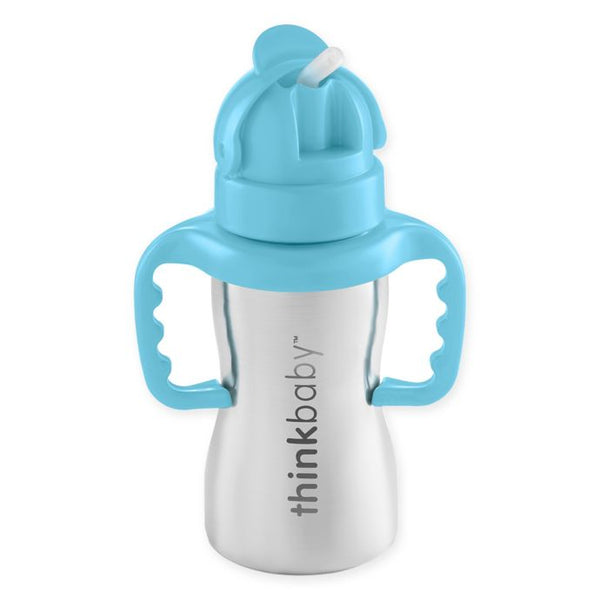 Thinkbaby - Steel Straw Bottle / Blue
