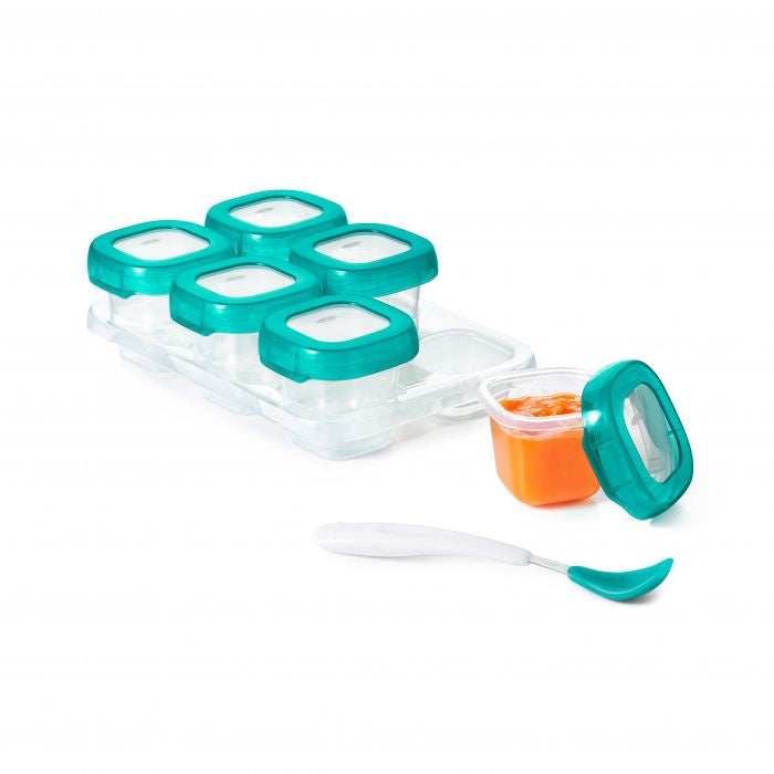 OXO Baby Blocks Freezer Storage Containers - Teal / 2 oz