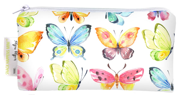 Itzy Ritzy Snack Happens Mini Snack Bag -  Beautiful Butterflies