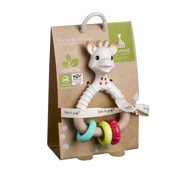 Calisson Sophie La Girafe So'pure Natur'rings Rattle