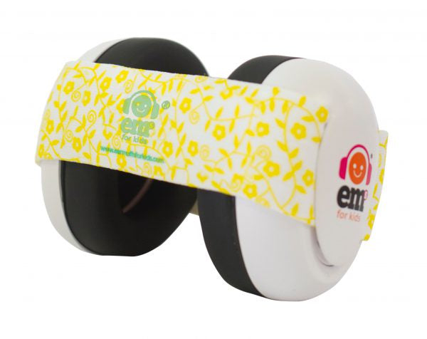 EM's 4 Kids Baby Ear Bubs - White / Lemon Floral Print